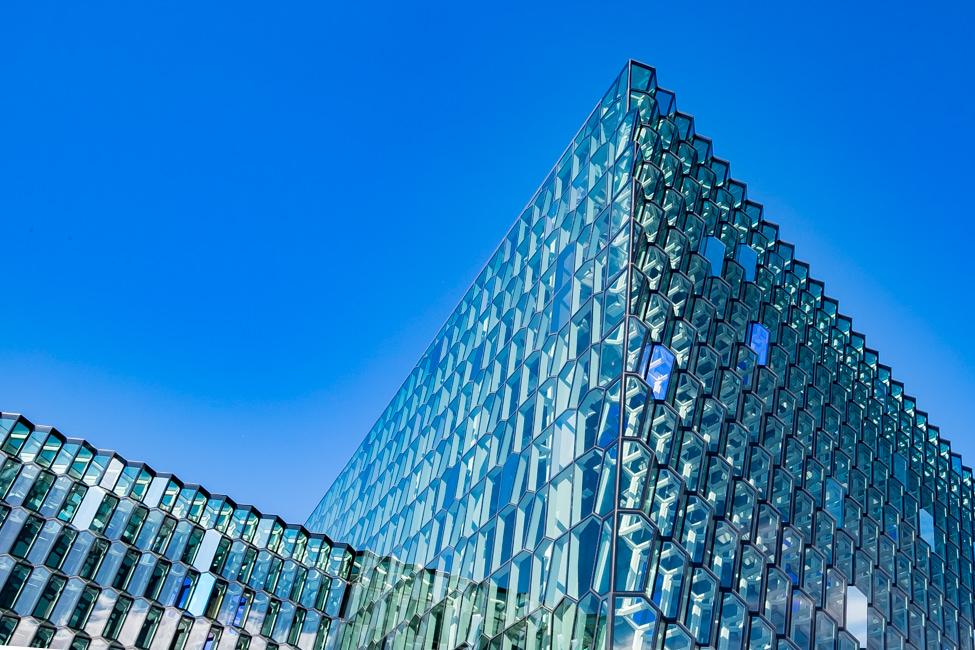 Photographe architecture la Harpa ReykjaviK Islande