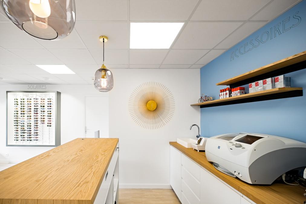 Photographe rénovation boutique optique en Région Parisienne